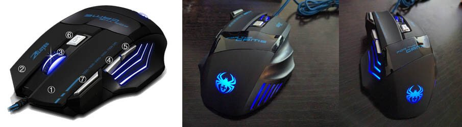 ZELOTES 7 button LED Gaming mouse