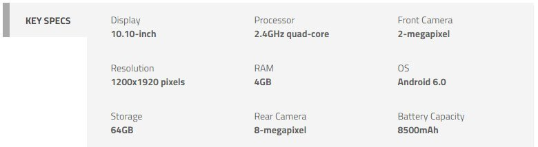 Yoga Book specification Android