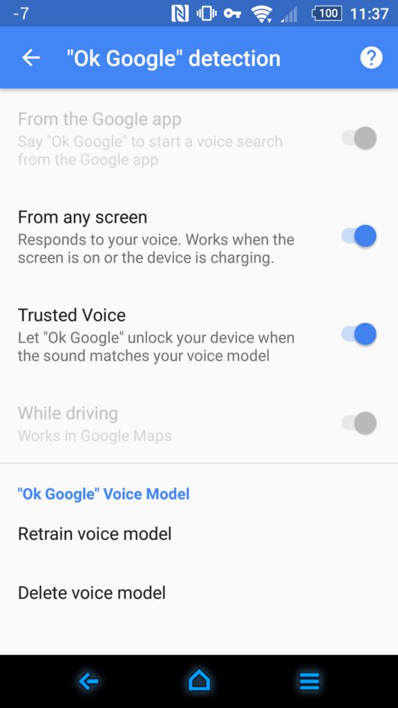 Android Smart Lock Truste voice