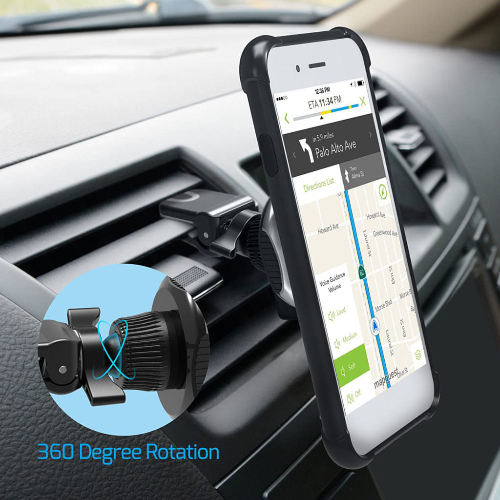 Smartphone using Veckle car mount