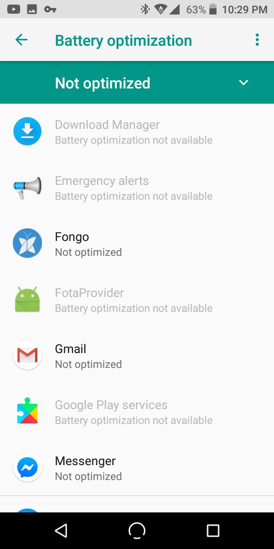 Nuu Mobile G3 Battery optimization