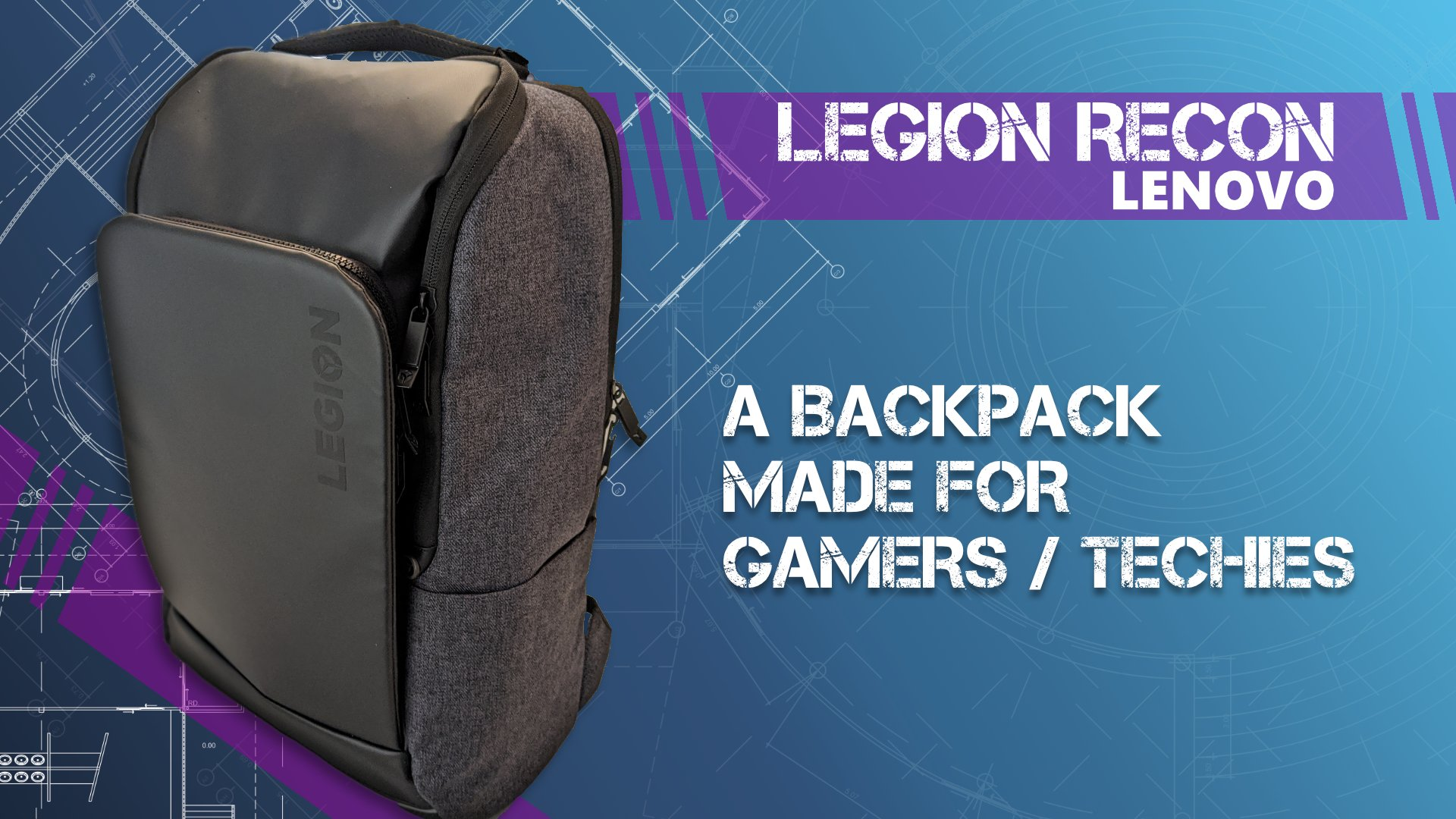 Legion Recon Lenovo Backpack Gamers Techies review