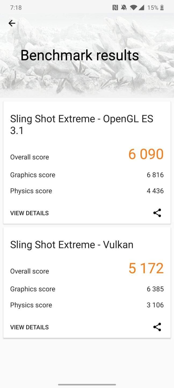 OnePlus 7T 3DMark Slingshot Extreme