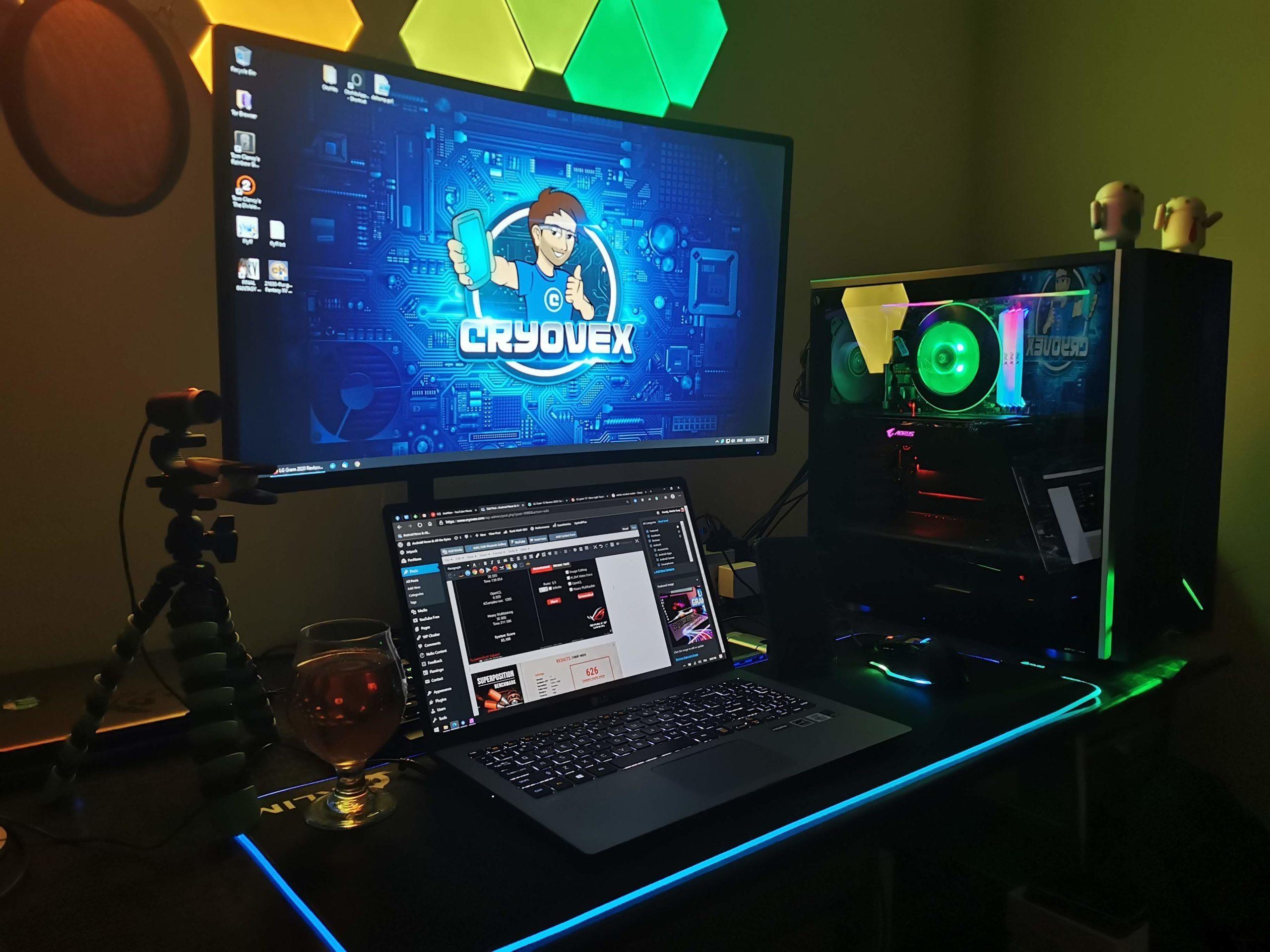LG Gram 15 Review - home setup