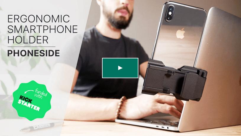 Phoneside #1 Smartphone holder kickstarter