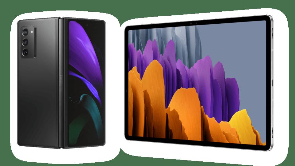 AVAILABLE Samsung Galaxy Z Fold2 5G & Galaxy Tab S7 and Tab S7+