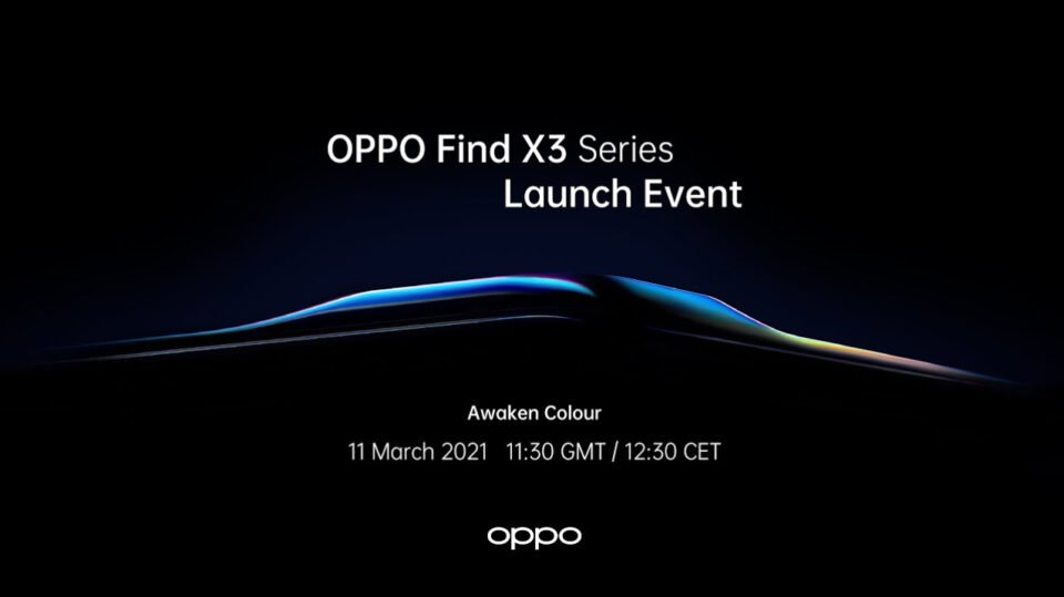 Find X3 Pro on March 11th 2021 - OPPO to Launch World First End to End One Billion Colour Phone