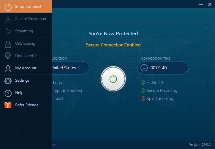 IVACY VPN - Windows 10 pic 01