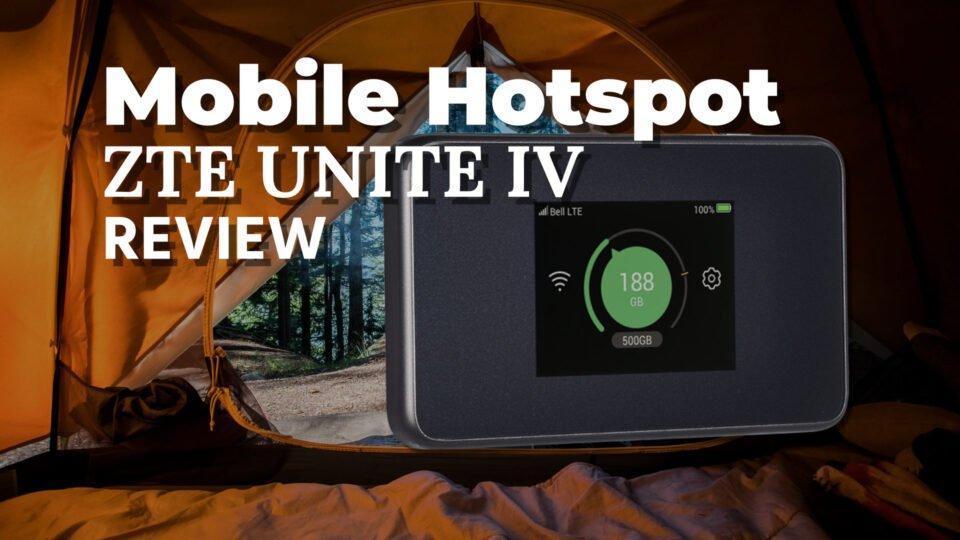 ZTE Unite IV Mobile WiFi hotspot for all your tech
