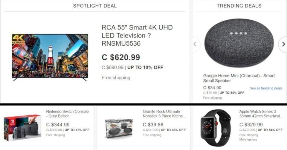 ebay cyber monday deals ottawa canada android news